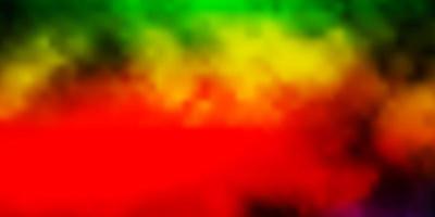 mörk flerfärgad bakgrund med cumulus. vektor
