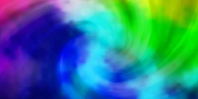 ljus flerfärgad vektorlayout med molnlandskap.