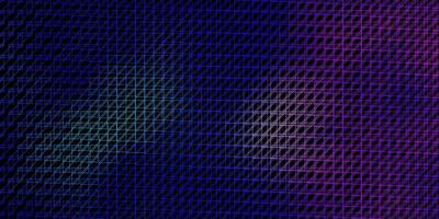 mörkrosa, blå vektorbakgrund med linjer.