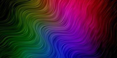 dunkelrosa, grüner Vektorhintergrund mit trockenen Linien. vektor
