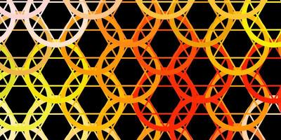 dunkelrosa, gelber Vektorhintergrund mit okkulten Symbolen. vektor