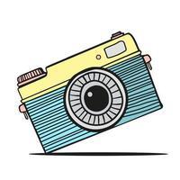 kamera handritad klotter
