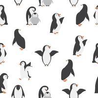 nahtloser Musterhintergrund der glücklichen Pinguine vektor