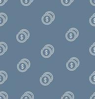 nahtloser Musterhintergrund der Münzenikonen vektor