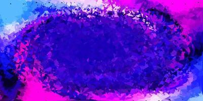 dunkelrosa, blaue Vektor-Gradienten-Polygon-Tapete.