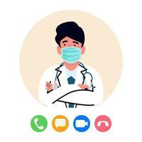 Online-Arzt, Telemedizin-Konzept vektor