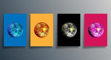 discokula i olika färger täcka set
