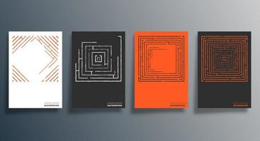 minimales geometrisches Design für Flyer, Poster, Broschürenumschlag, Hintergrund, Tapete, Typografie oder andere Druckprodukte. Vektorillustration