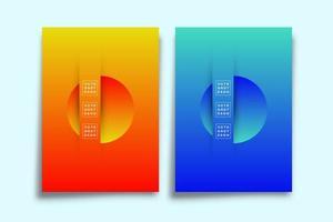 uppsättning abstrakt bakgrund med lutande texturformer vektor