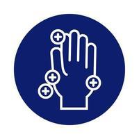 Handwäsche mit covid19 Partikeln blockieren Stilikone