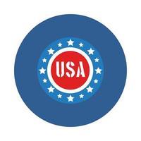 Stempel mit Sternen USA Unabhängigkeitstag Blockstil