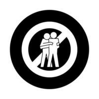 Menschen Figuren vermeiden Kontakt Gesundheit Piktogramm Block Stil