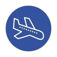 Flugzeugankunftsblock-Stilikone vektor