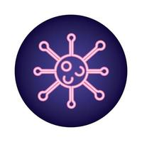 covid19 Viruspartikel Neon-Stil