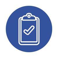 checklista block stil ikon