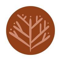 höst träd boho hand rita stil