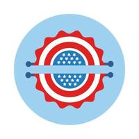 Girlanden mit USA Flag Block Style