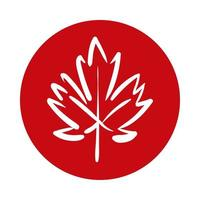 lönnlöv kanadensisk blockstil vektor