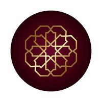 ramadan kareem dekorativ figur block lutning stil vektor