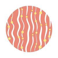 Linien und Punkte organischer Musterblockstil