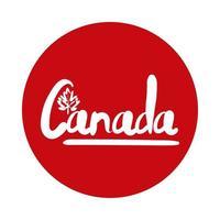 kanadischer Wortbeschriftungsblockstil