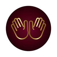 Zwei-Hand-Signalblock-Verlaufsstil