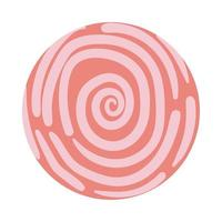 spiralförmiger organischer Musterblockstil