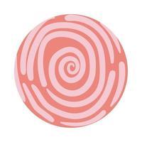 spiral organisk mönster block stil