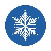 snöflinga is block stil ikon