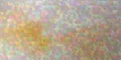 ljus orange vektor layout med linjer, trianglar.