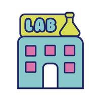 bygga lab linje och fyll stil ikon vektor