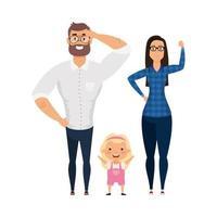 Mutter Vater und Tochter Vektor-Design