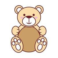 isoliertes Teddybärvektorentwurf vektor