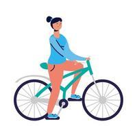 junge Frau Fahrrad fahren