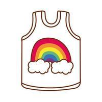 Trägershirt mit niedlichem Regenbogenentwurf für schwulen Stolz vektor