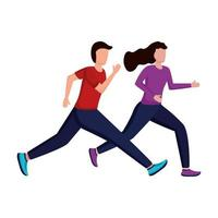junges Paar läuft