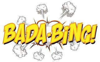 Comic-Sprechblase mit bada-bing Text