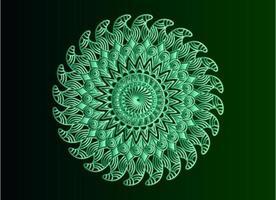 grüner dekorativer, blumiger und abstrakter arabesque Mandalaentwurf