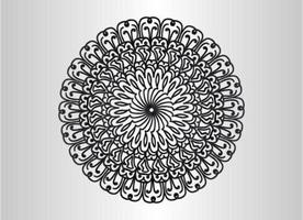 svart dekorativ, blommig och abstrakt arabesk mandala design vektor