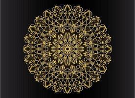 goldenes dekoratives, blumiges und abstraktes arabesque Mandala-Design