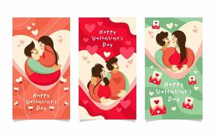 romantisk alla hjärtans dag banner vektor