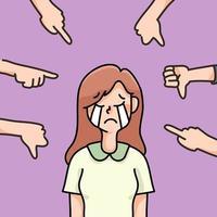 depressive Person trauriges Versagen keine Inspiration niedliche Karikaturillustration enttäuscht vektor