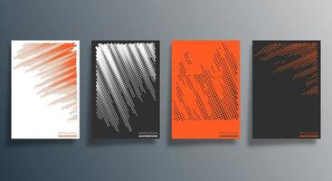 Minimales Halbton-Design für Flyer, Poster, Broschüren, Hintergrund, Tapeten, Typografie oder andere Druckprodukte. Vektorillustration vektor