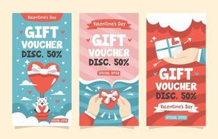 Geschenkgutschein zum Valentinstag vektor