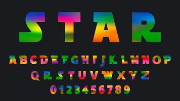 bunte Farbverlaufsschablone des Alphabets vektor
