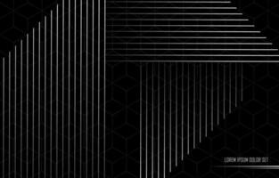 schwarzer Linienhintergrund und Silberstreifen vektor