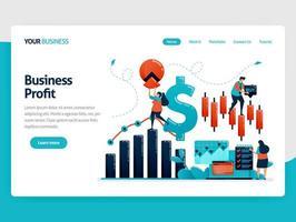 finansiell plattform för att välja investering. statistikdata för redovisning. analys av affärsdata och företagstillväxt. platt mänsklig vektorillustration för målsida, webbplats, mobil, affisch vektor