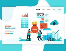 Vektor-Illustration von Risikokapital-Darlehen für sme Entwicklung und Investition. Niedrigzinskredit für Jungunternehmer und Start-up-Unternehmen. für Website, Landing Page, Banner, mobile Apps, Flyer vektor