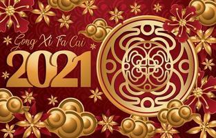 kinesiskt nyår bakgrundskoncept vektor