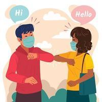 neues normales Handshake-Konzept vektor